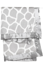 LITTLE GIRAFFE Grey Giraffe Blanket - Front cropped
