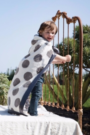 LITTLE GIRAFFE Grey Spot Blanket - Product Mini Image