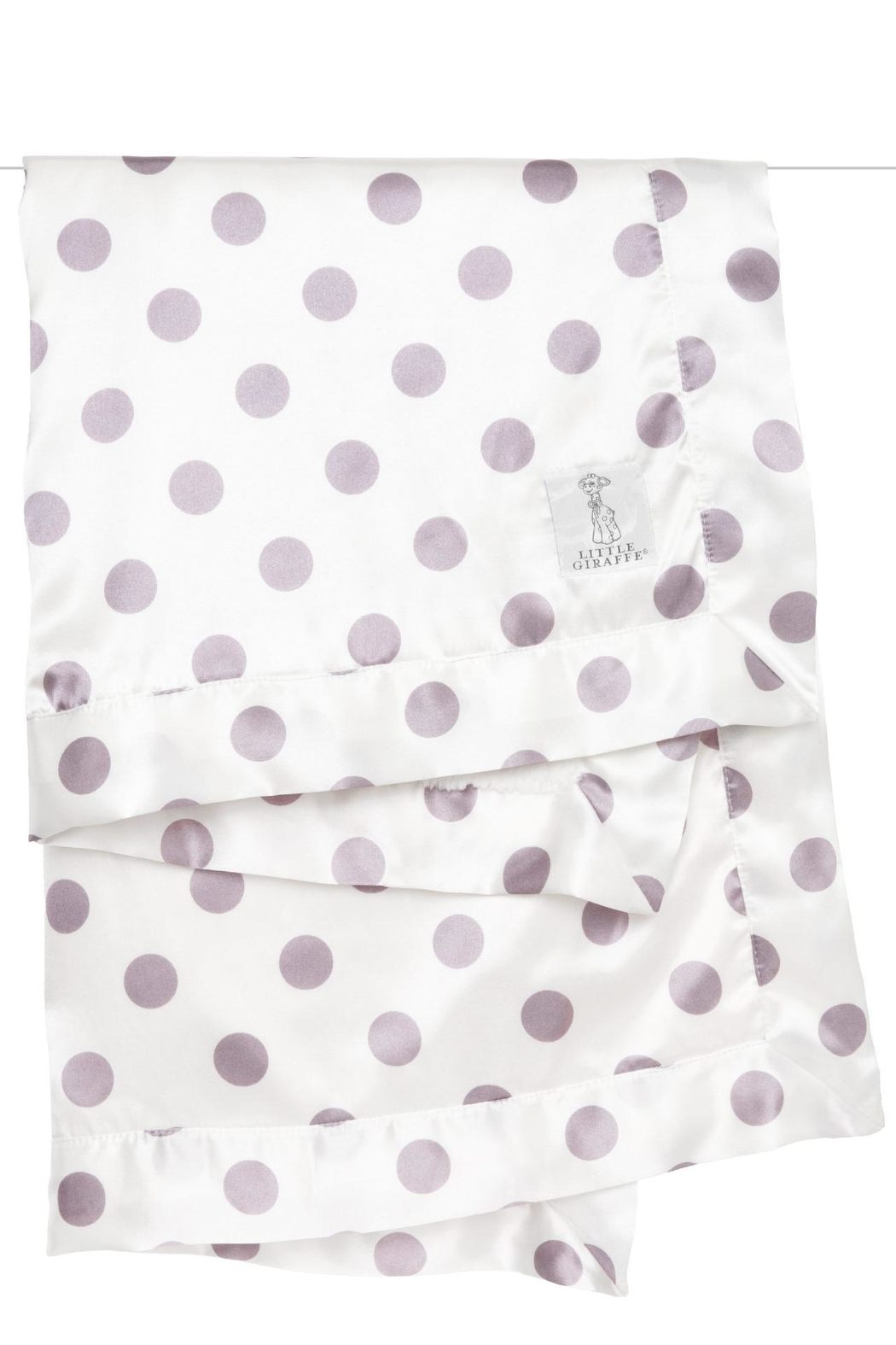 LITTLE GIRAFFE Lavender Dot Blanket - Main Image