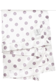 LITTLE GIRAFFE Lavender Dot Blanket - Front cropped