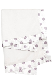 LITTLE GIRAFFE Lavender Dot Blanket - Front full body