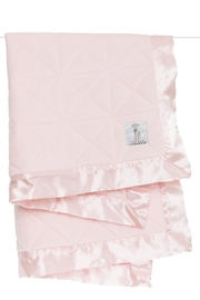 LITTLE GIRAFFE Pink Quilted Blanket - Front cropped