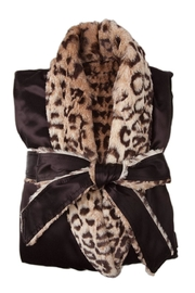 LITTLE GIRAFFE Satin Leopard Robe - Product Mini Image