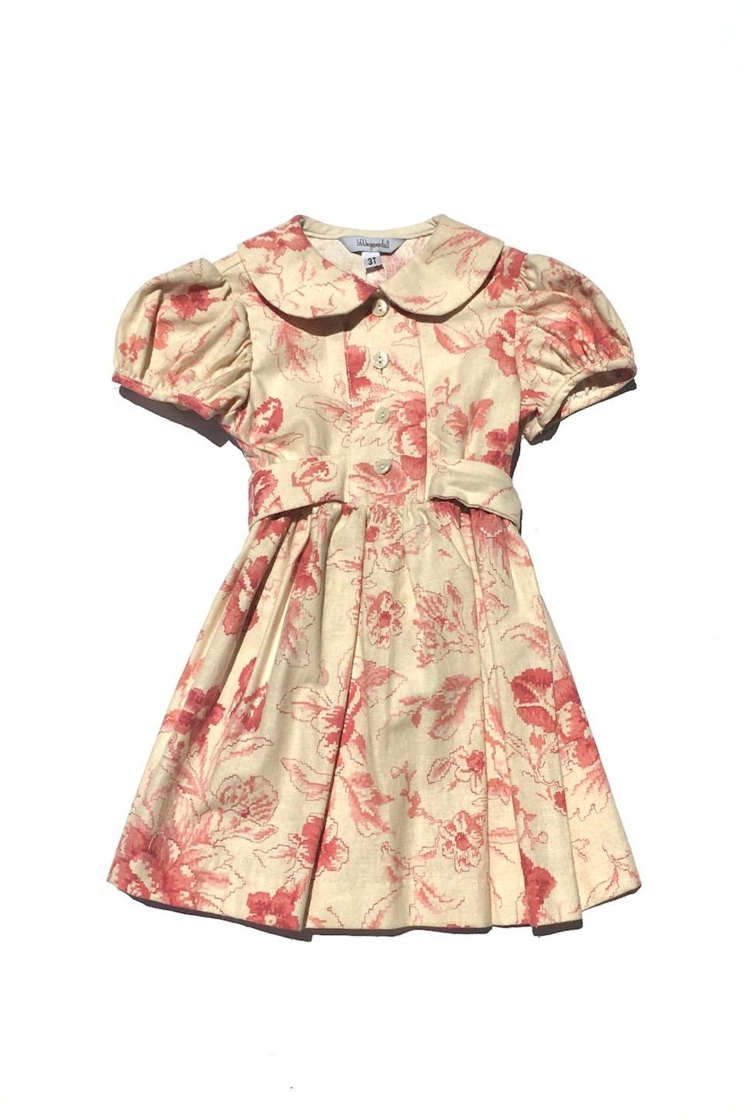 Little Goodall Spring Rose Dress - Front Cropped Image