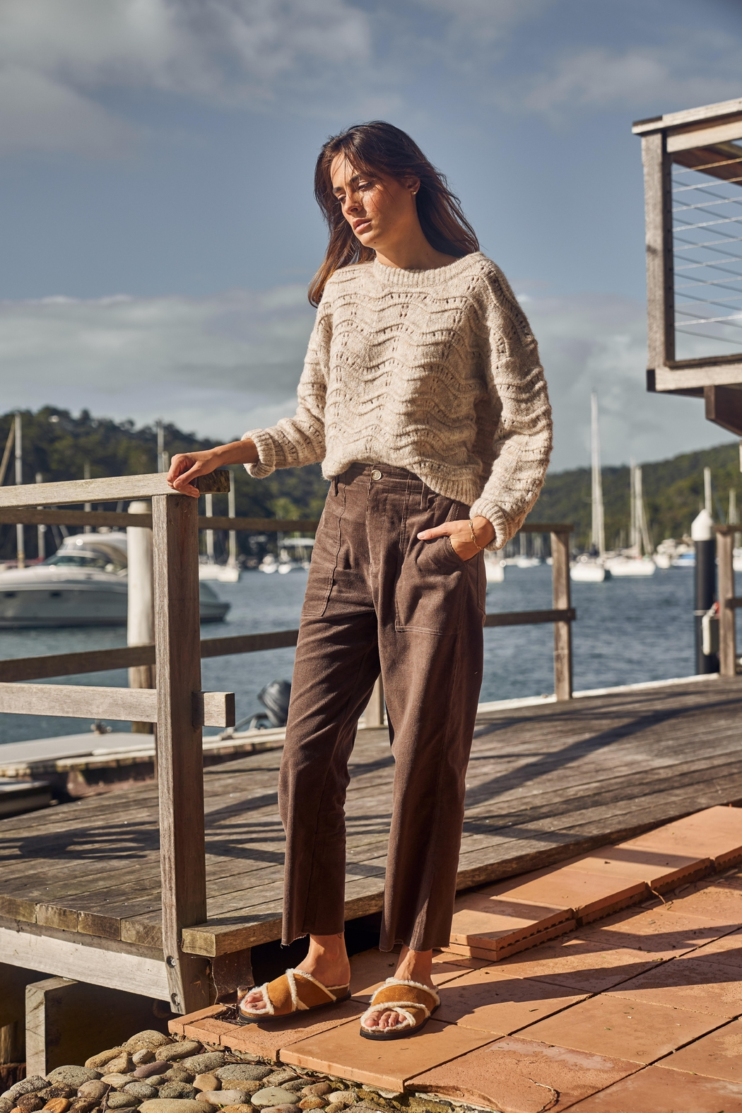 Little Lies Relaxed Cord Pant - Main Image