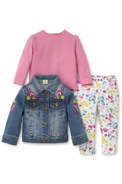 Shoptiques Product: Flower Jeanjacket Set