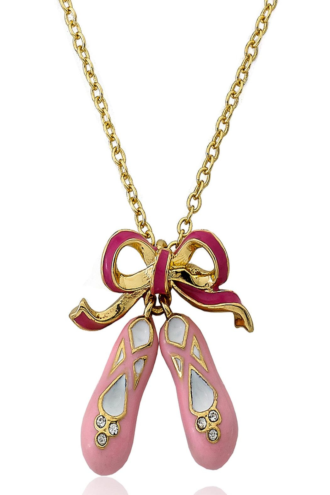 Little Miss Twin Stars Ballet Slipper Necklace - Main Image