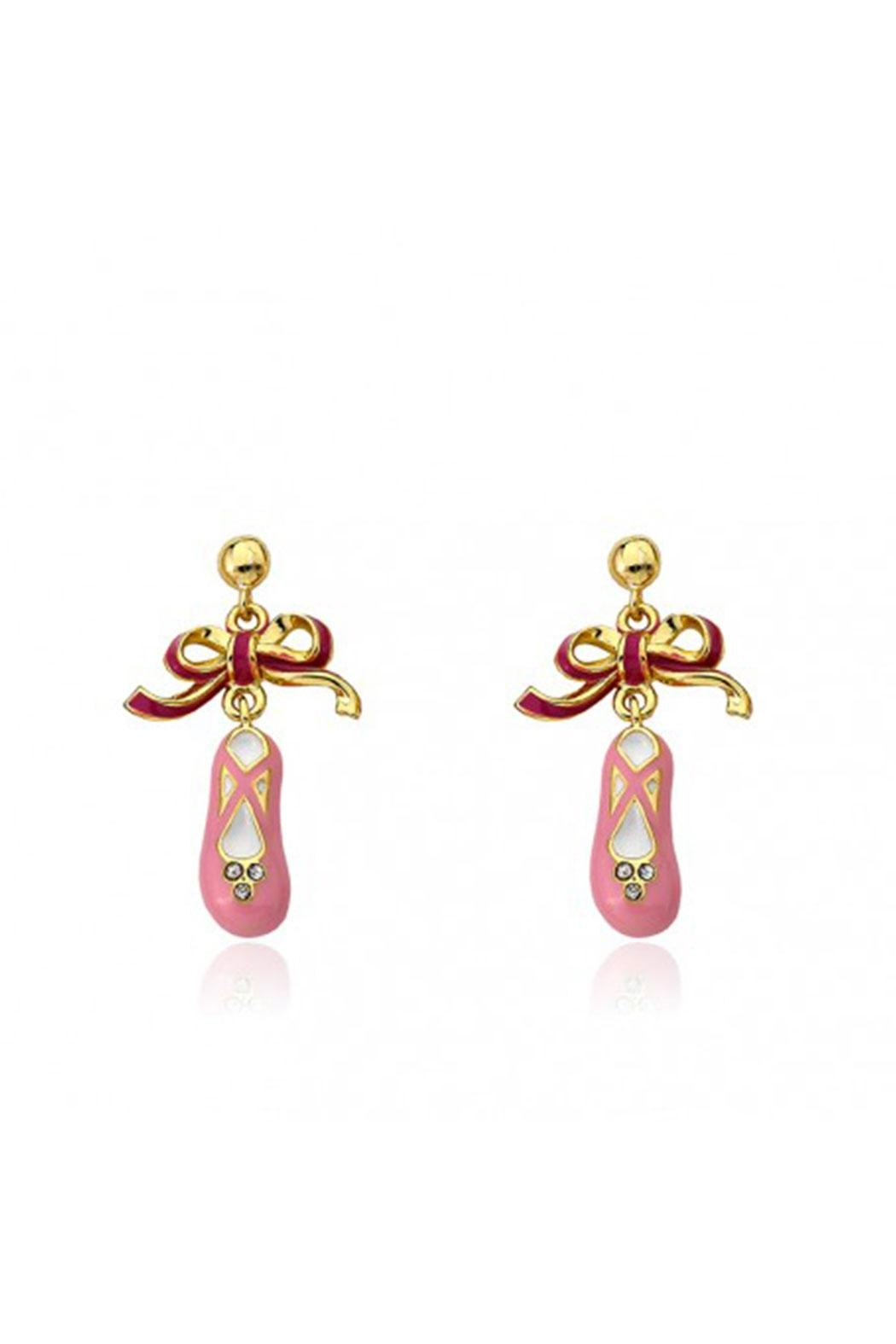 Little Miss Twin Stars Ballet Slippers Earrings - Main Image