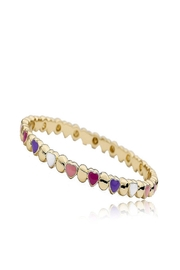 Little Miss Twin Stars Hearts & Circle Bangle - Front cropped