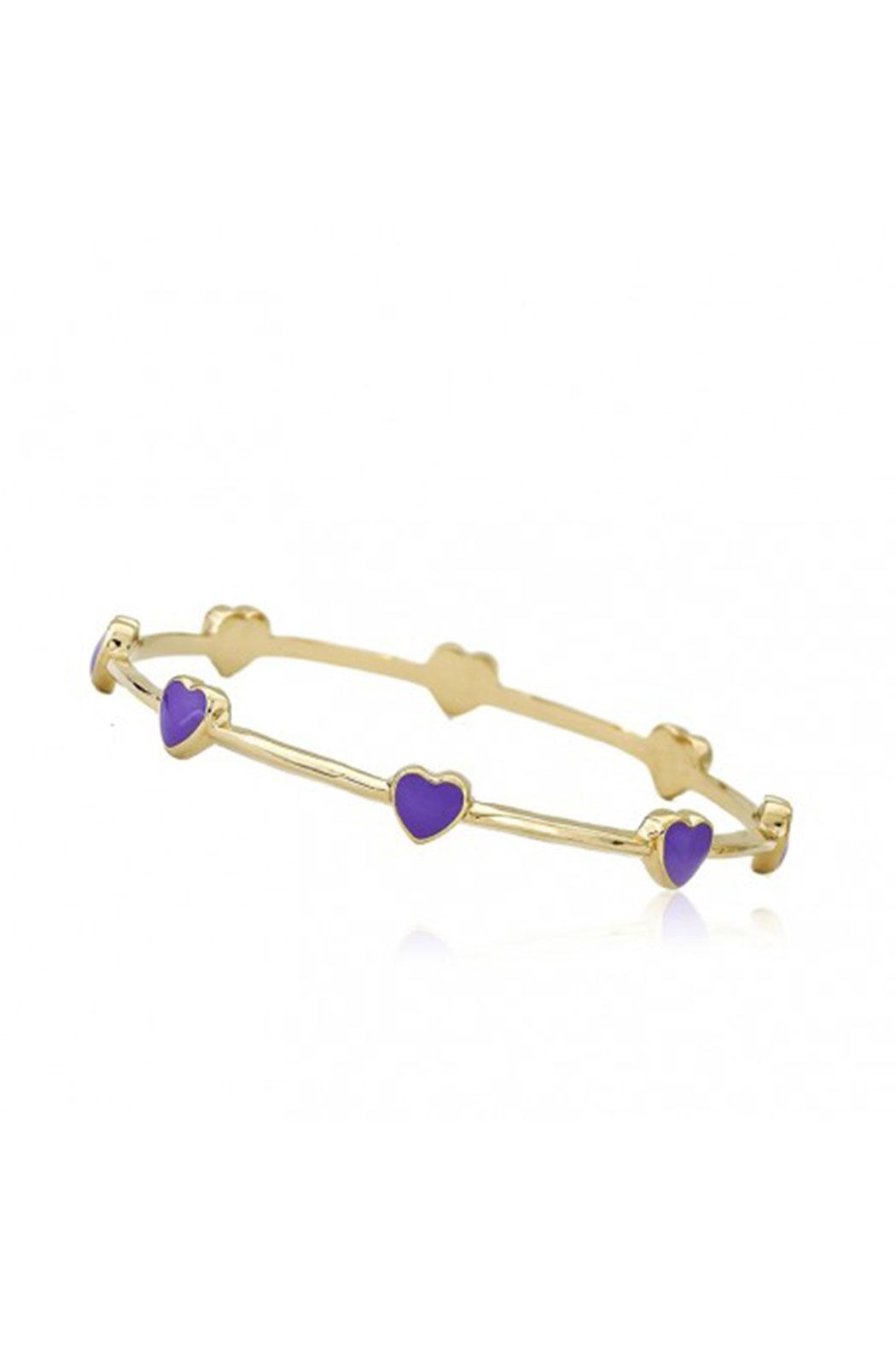 Little Miss Twin Stars Lavender Hearts Bangle - Main Image