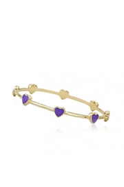 Little Miss Twin Stars Lavender Hearts Bangle - Product Mini Image