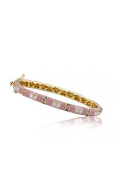 Shoptiques Product: Pink Butterfly Bangle