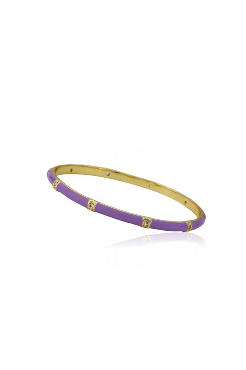 Little Miss Twin Stars Purple Bangle Bracelet - Main Image