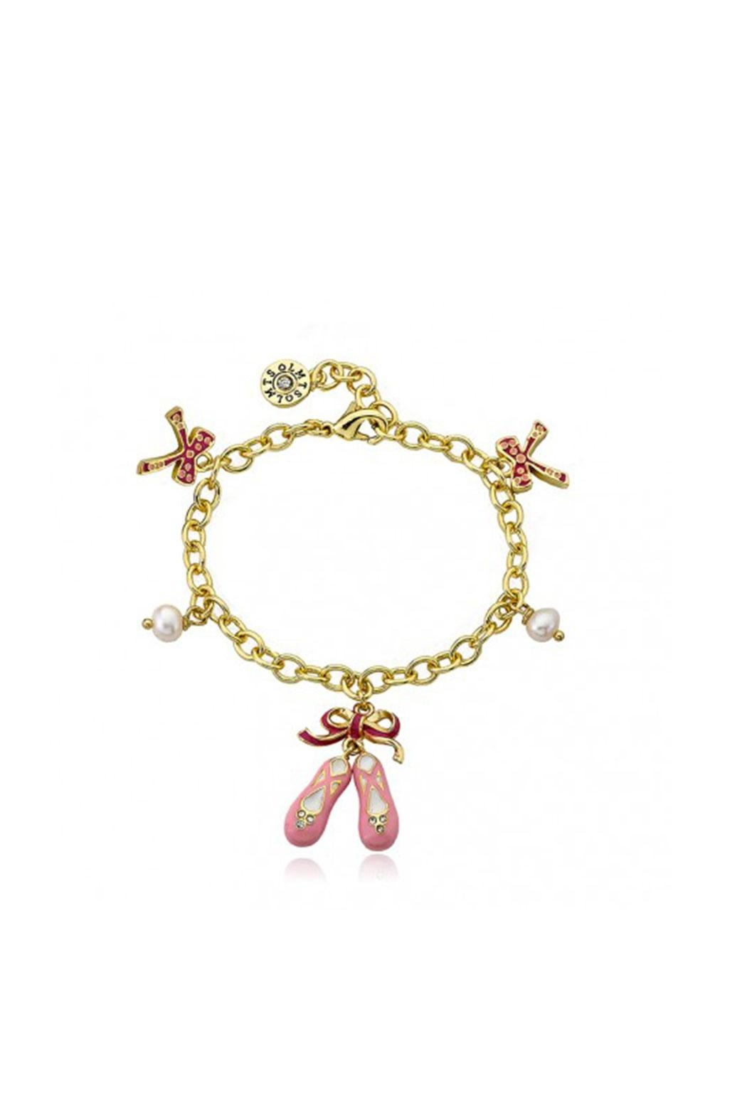 Little Miss Twin Stars Bows and Pearls Bracelet - Main Image