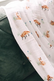 Little Unicorn Fox Cotton Swaddle - Side cropped