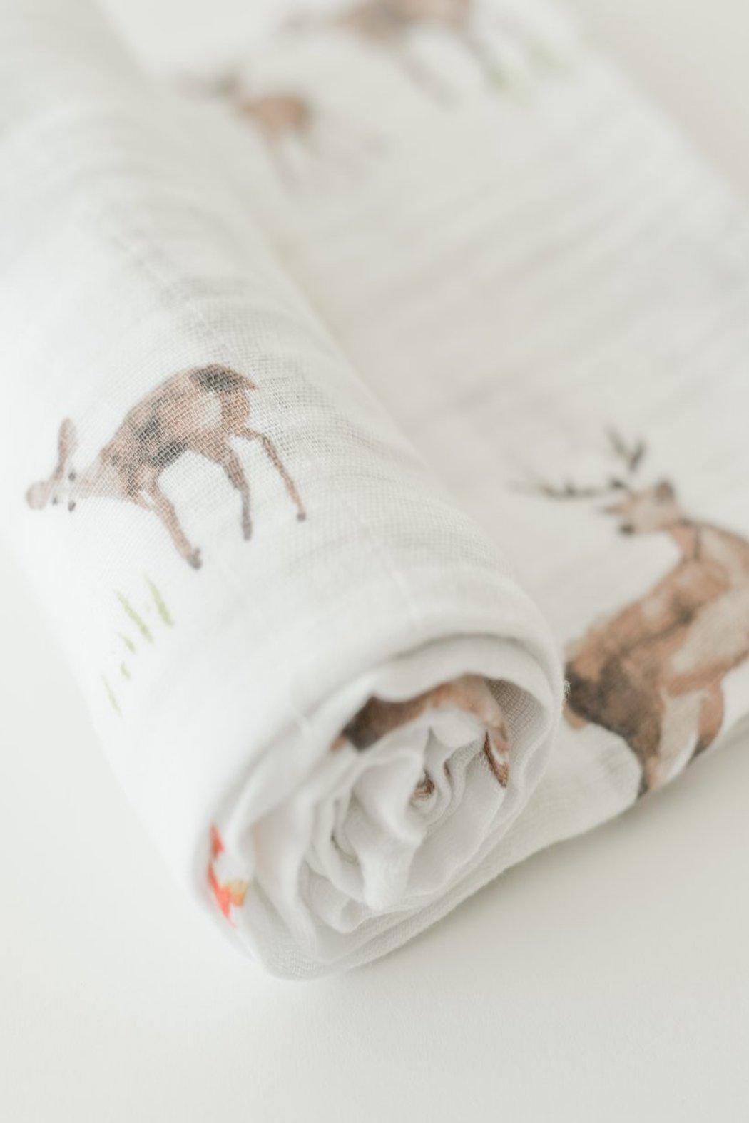 Little Unicorn Oh, Deer Swaddle - Front Full Image
