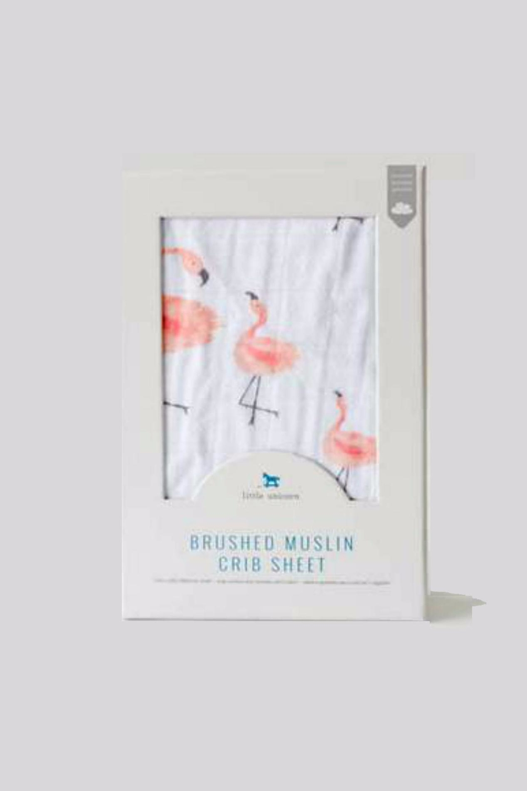 Little Unicorn Pink-Laddies Crib-Sheet Brushed-Muslin - Front Full Image