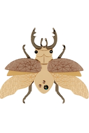 Little Moose Gold Insect Brooch - Product Mini Image
