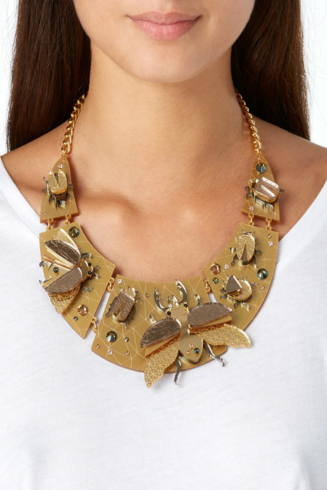 Little Moose Insect Collar Necklace - Front Full Image