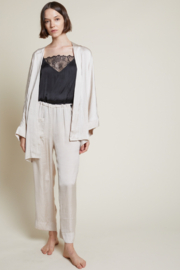 Grade and Gather Liv Satin Lounge Pants - Front cropped