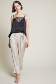 Grade and Gather Liv Satin Lounge Pants - Side cropped