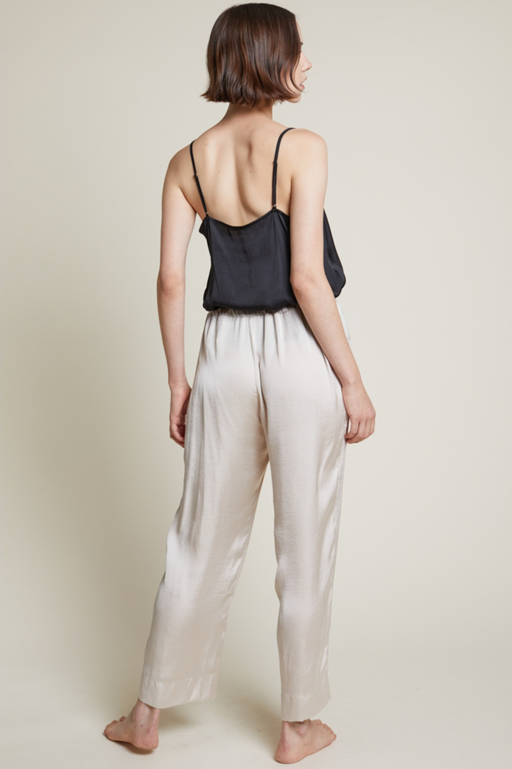 Grade and Gather Liv Satin Lounge Pants - Front Full Image