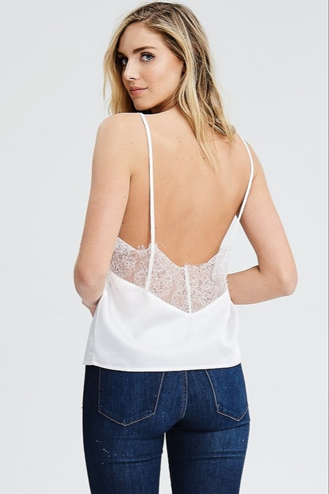 Evenuel Liv Satin Top - Front Cropped Image