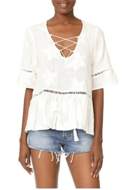 Liv Los Angeles Lace Up Top - Front cropped