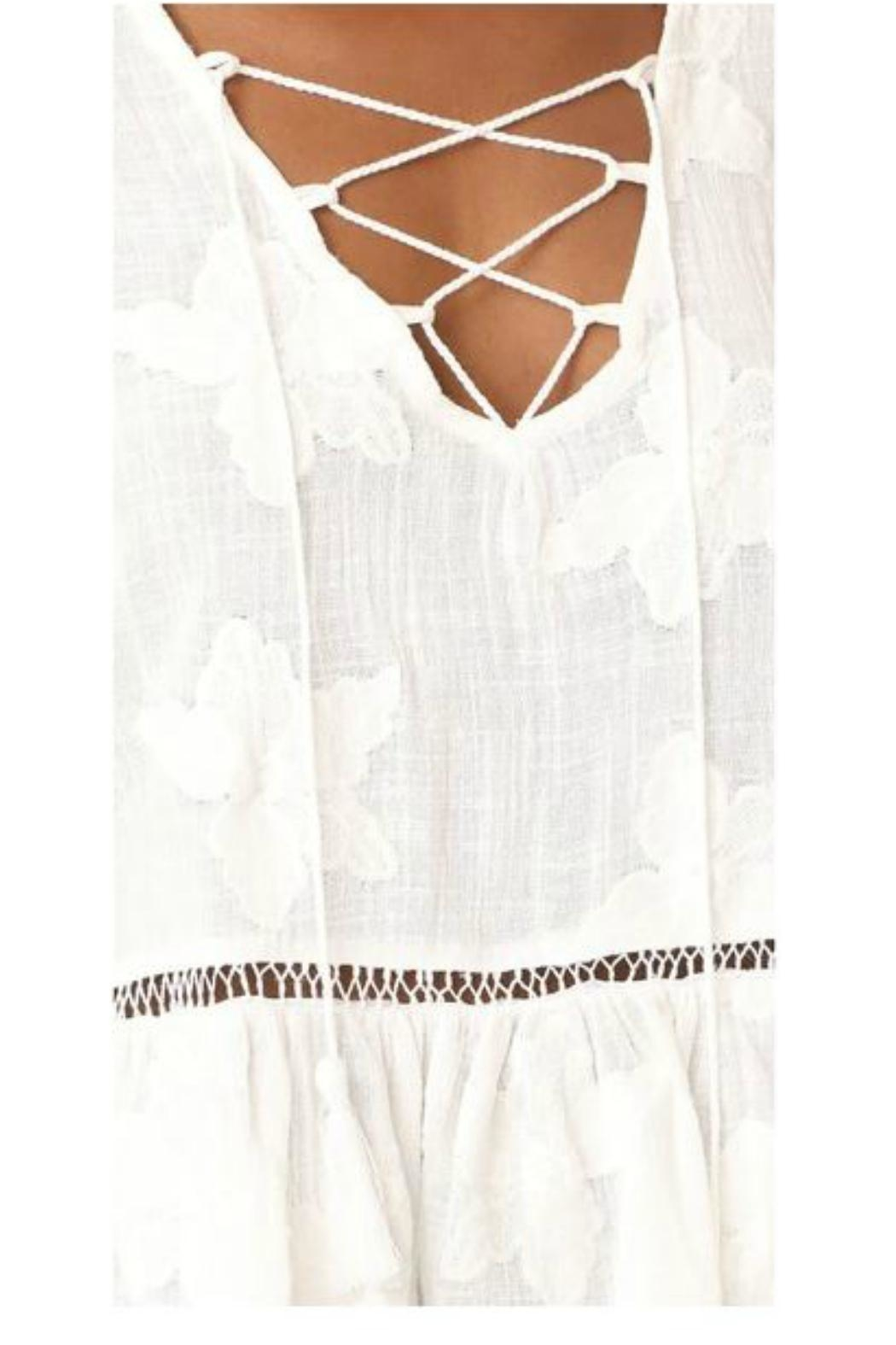 Liv Los Angeles Lace Up Top - Side Cropped Image