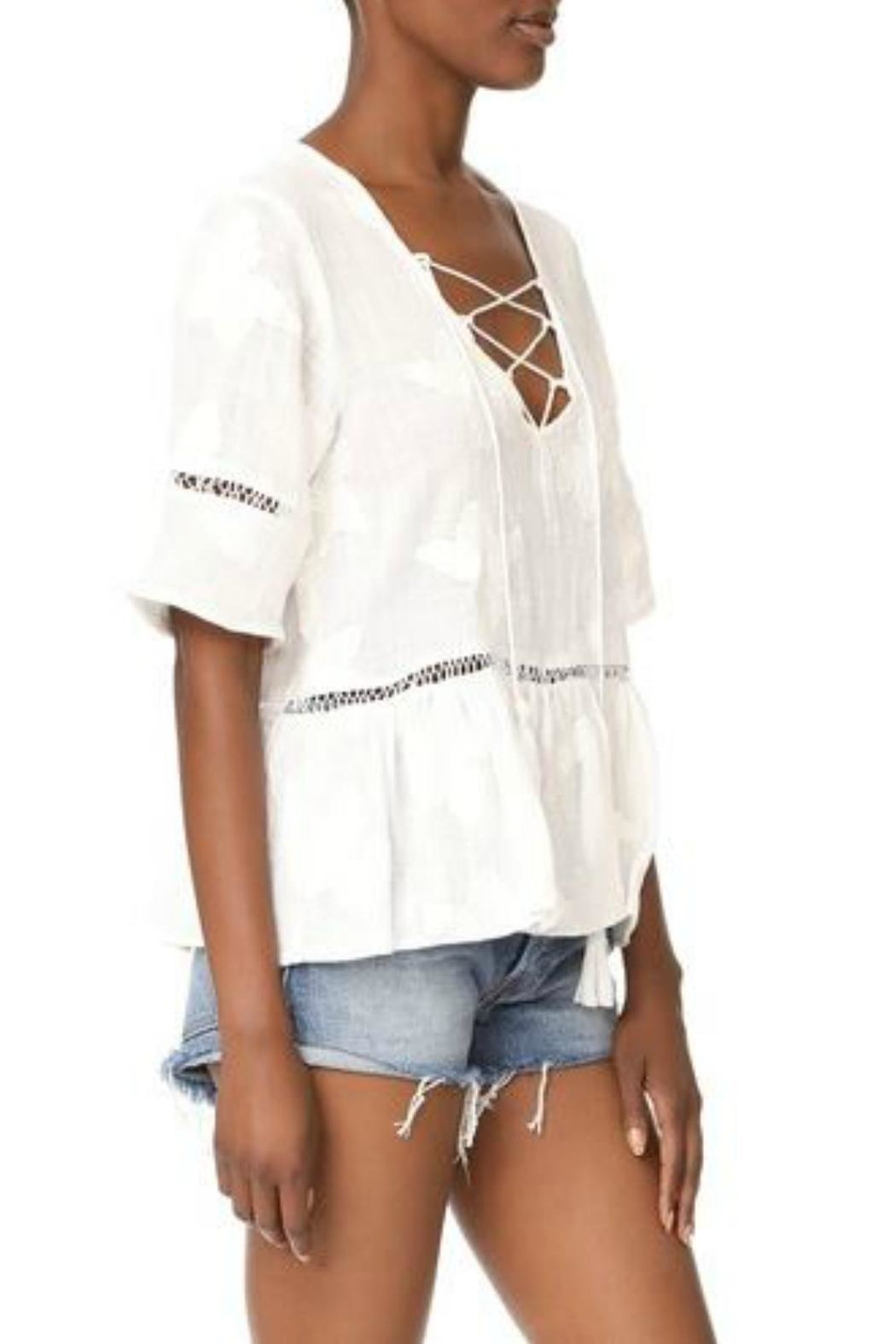Liv Los Angeles Lace Up Top - Front Full Image