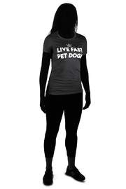oliver thomas Live Fast Pet Dogs Shirt - Front full body