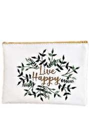 Greenbrier Live Happy Cosmetics Pouch - Front cropped