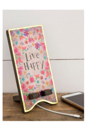 Natural Life Live Happy Phone Dock - Product Mini Image