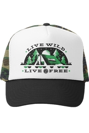 Grom Squad Live Wild Live Free Trucker Hat - Front cropped