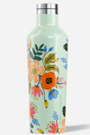 Rifle Paper Co.  Lively Floral Mint Canteen - Product Mini Image