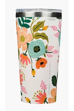 Rifle Paper Co. and Corkcicle Lively Floral Cream Tumbler - Alternate List Image