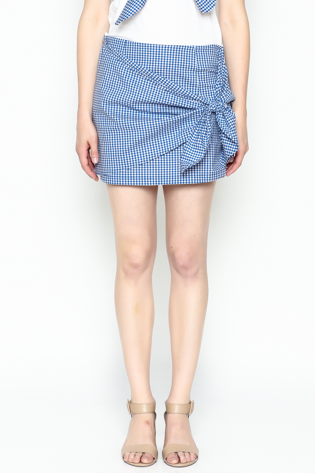 Lively Gingham Skirt - Front Full Image