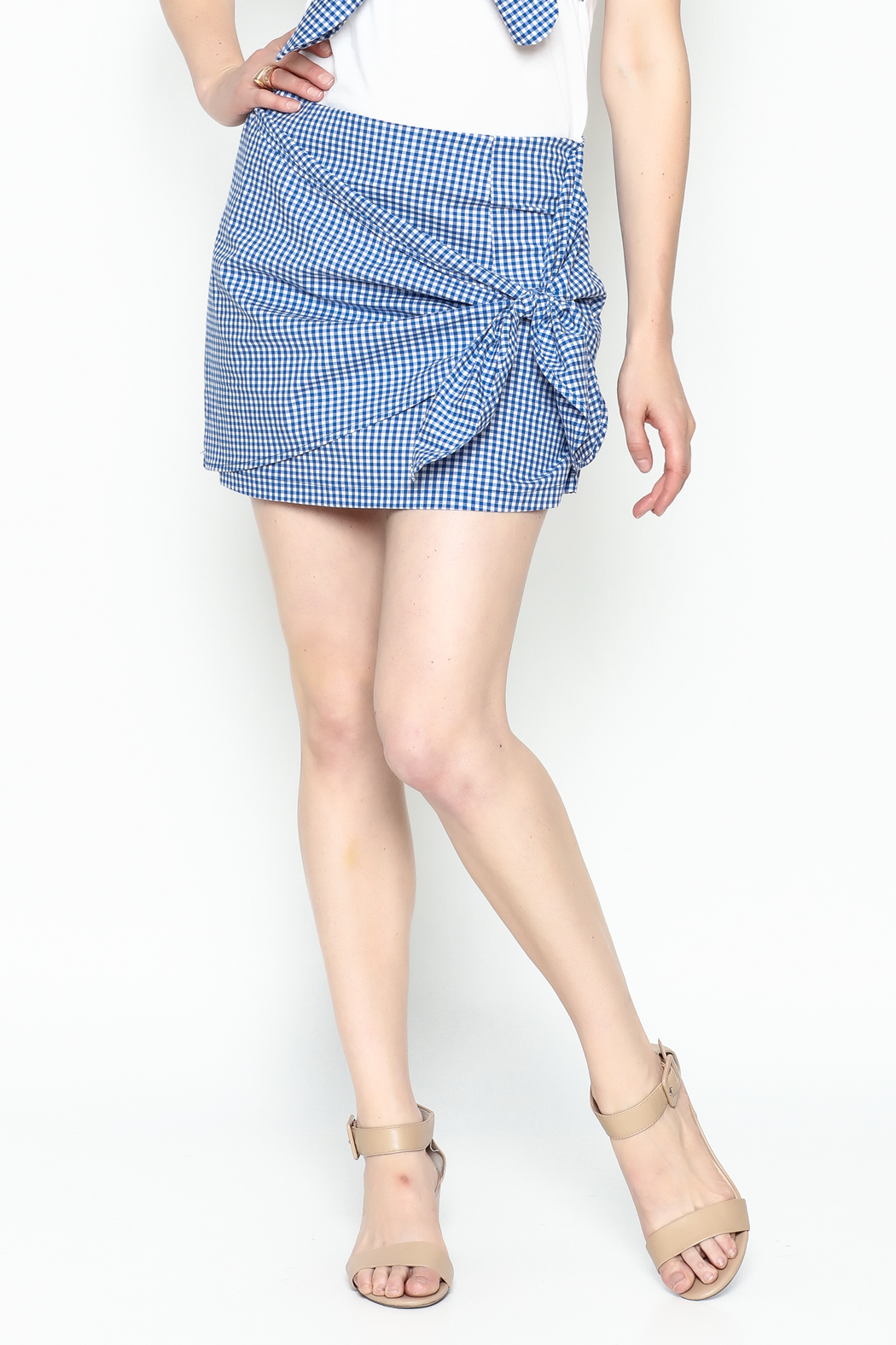 Lively Gingham Skirt - Main Image