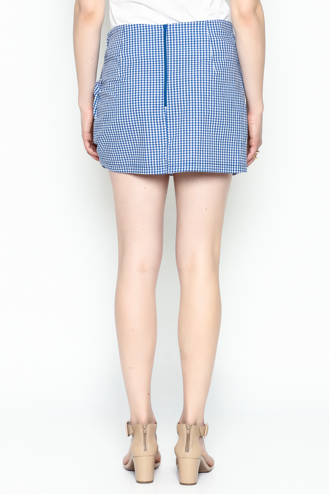 Lively Gingham Skirt - Back Cropped Image