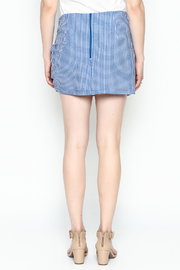 Lively Gingham Skirt - Back cropped