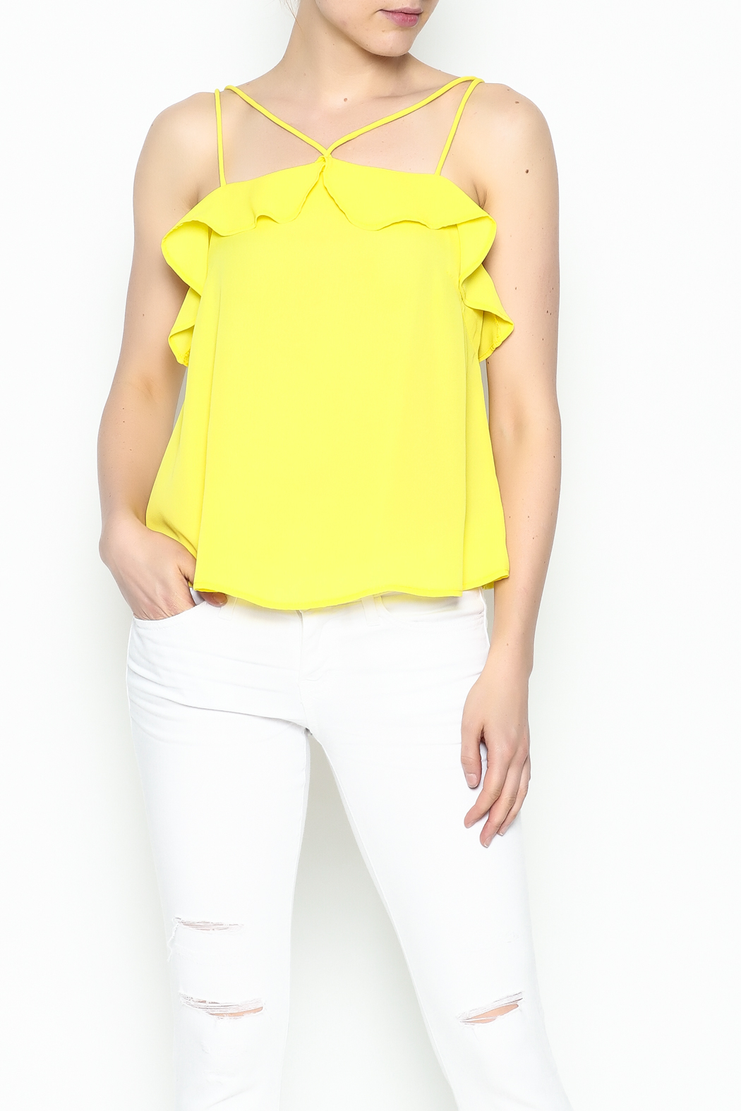Lively Spaghetti Strap Top - Front Cropped Image