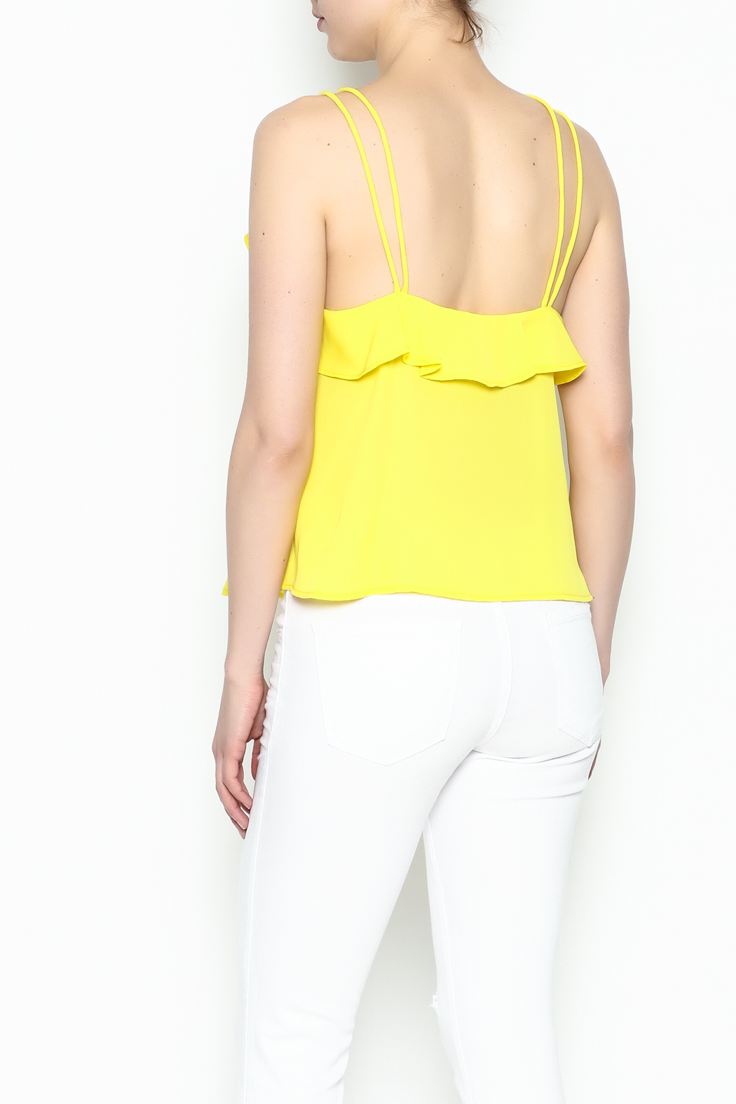 Lively Spaghetti Strap Top - Back Cropped Image