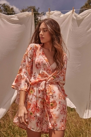 Livenza Lingerie Blush Flora Robe - Side cropped
