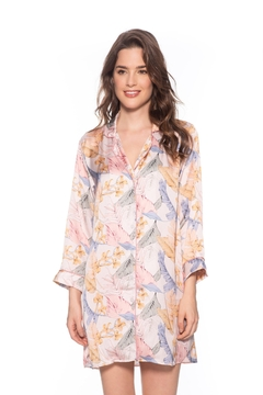 Livenza Lingerie Pink Palmetto Sleepshirt - Product List Image