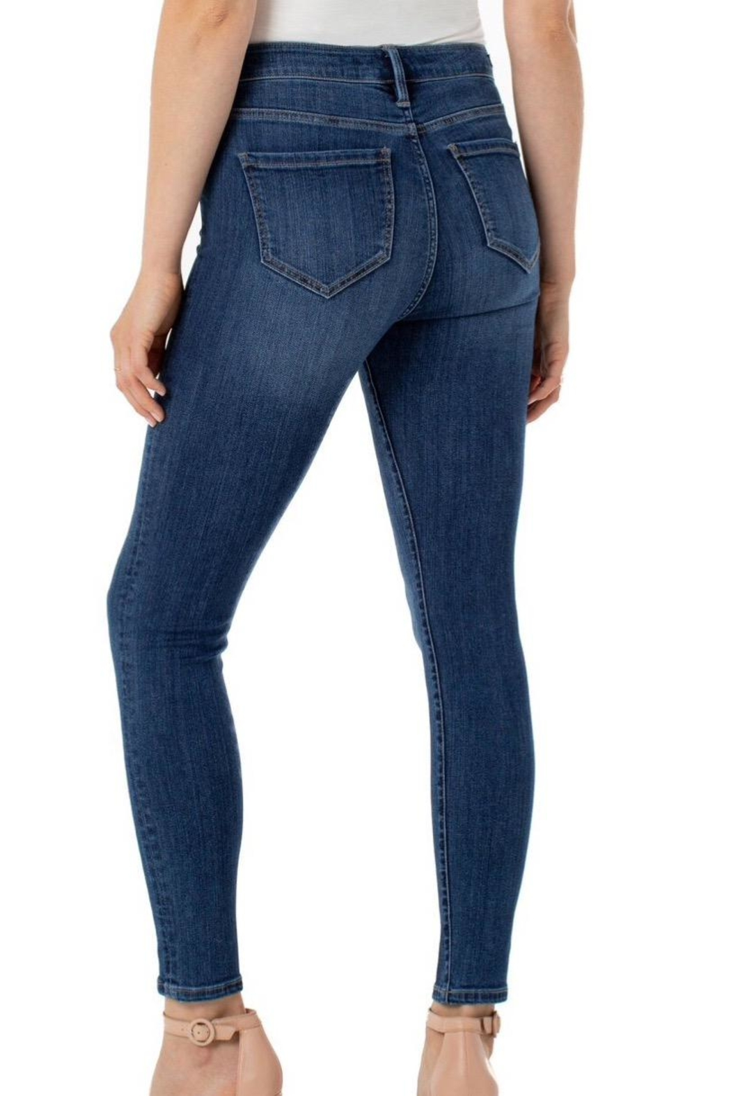 Liverpool Abby Skinny Ankle - Back Cropped Image