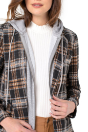 Liverpool Jeans Company Boyfriend Blazer With Removable Hood - Product Mini Image
