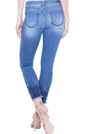 Liverpool Cropped Embroidered Jean - Side cropped