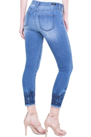 Liverpool Cropped Embroidered Jean - Back cropped