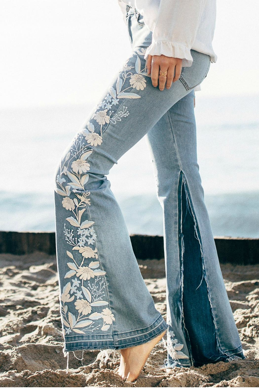 Liverpool Fare Embroidery Jeans - Front Full Image