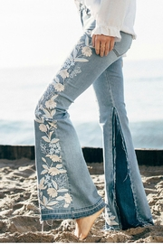 Liverpool Fare Embroidery Jeans - Front full body